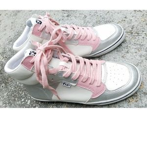 Steve Madden Pink & Silver Fix Sneakers